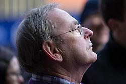 © Licensed to London News Pictures . 03/02/2015 . Manchester , UK . TV weatherman FRED TALBOT ( aka Fred the Weatherman ) outside Manchester's Minshull Street Crown Court this morning (Tuesday 3rd February 2015) as a fire alarm forced the court to be evacuated . Talbot is charged with 10 historical counts of indecent assault and 1 count of sexual assault whilst a teacher at Altrincham Grammar School for Boys . Photo credit : Joel Goodman/LNP