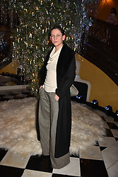 Maria Grachvogel at reception to celebrate the launch of the Claridge's Christmas Tree 2017 at Claridge's Hotel, Brook Street, London England. 28 November 2017.<br /> Photo by Dominic O'Neill/SilverHub 0203 174 1069 sales@silverhubmedia.com