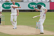 Paul Horton & Ben Raine during the Specsavers County Champ Div 2 match between Durham County Cricket Club and Leicestershire County Cricket Club at the Emirates Durham ICG Ground, Chester-le-Street, United Kingdom on 20 August 2019.