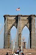 USA, NY, New york city, Manhattan Brooklyn Bridge