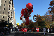 New York, NY-November 23: Red Mighty Morphin Power Ranger Ballon attends the 91st Annual Macy's Thanksgiving Day Parade on November 23, 2017 held in New York City Credit: (Photo by Terrence Jennings/terrencejennings.com)