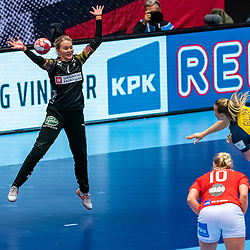 Sandra Toft of Denmark in action during the Women's EHF Euro 2020 match between Denmark and Sweden at Jyske Bank BOXEN on december 11, 2020 in Kolding, Denmark (Photo by RHF Agency/Ronald Hoogendoorn)