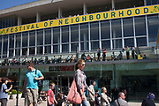 Royal Festival Hall. Festival of Neighbourhood at The Southbank, London, UK. Annual springtime community activities.