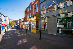 20 April 2020 Rotherham South Yorkshire - Week 5 of the UK emergency measures to combat the Coronavirus Covid-19 Pandemic. High Street <br /> <br /> 20 April 2020<br /> <br /> www.pauldaviddrabble.co.uk<br /> All Images Copyright Paul David Drabble - <br /> All rights Reserved - <br /> Moral Rights Asserted -