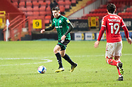 Rochdale's Aaron Morley during the EFL Sky Bet League 1 match between Charlton Athletic and Rochdale at The Valley, London, England on 12 January 2021.