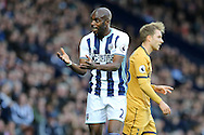 Allan Nyom of West Bromwich Albion looks on. .Premier league match, West Bromwich Albion v Tottenham Hotspur at the Hawthorns stadium in West Bromwich, Midlands on Saturday 15th October 2016. pic by Andrew Orchard, Andrew Orchard sports photography.