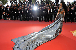 Winnie Harlow attending the Solo: A Star Wars Story premiere at the 71st Cannes Film Festival.
