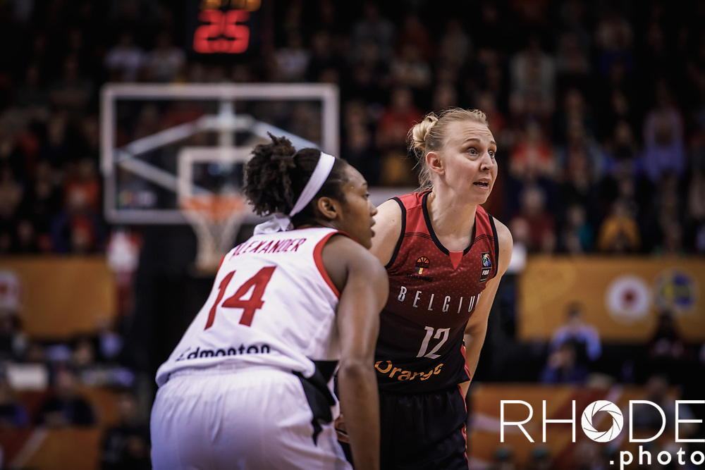 Ann Wauters (BEL) <br /> <br /> Day 1 – CANADA (CAN) vs BELGIUM (BEL): 61-56<br /> <br /> FIBA Women's Olympic Qualifying Tournament 2020 – Ostend,  Belgium<br /> Ostend Versluys Dôme (BEL)<br /> <br /> ©RhodePhotoMedia