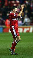 Fotball<br /> England 2004/2005<br /> Foto: SBI/Digitalsport<br /> NORWAY ONLY<br /> <br /> Middlesbrough v Blackburn Rovers, Barclays Premiership, Riverside Stadium, Middlesbrough 05/02/2005.<br /> <br /> Middlesbrough's Stewart Downing applauds his team's performance.