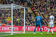 Gerard Deulofeu (Watford) scores a goal during the FA Cup semi-final match between Watford and Wolverhampton Wanderers at Wembley Stadium in London, England on 7 April 2019.