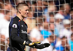 """Chelsea's Jordan Pickford during the Premier League match at Stamford Bridge, London. PRESS ASSOCIATION Photo. Picture date: Sunday August 27, 2017. See PA story SOCCER Chelsea. Photo credit should read: Scott Heavey/PA Wire. RESTRICTIONS: EDITORIAL USE ONLY No use with unauthorised audio, video, data, fixture lists, club/league logos or """"live"""" services. Online in-match use limited to 75 images, no video emulation. No use in betting, games or single club/league/player publications."""