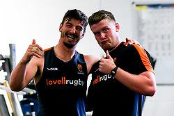 Sam Lewis and Niall Annett of Worcester Warriors during preseason training ahead of the 2019/20 Gallagher Premiership Rugby season - Mandatory by-line: Robbie Stephenson/JMP - 06/08/2019 - RUGBY - Sixways Stadium - Worcester, England - Worcester Warriors Preseason Training 2019