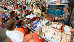 Hurricane supplies are flying off the shelves at The Home Depot in Lady Lake, FL, USA on Tuesday afternoon, September 5, 2017. Buyers are preparing for Hurricane Irma. The store was out of generators and water early Tuesday. Photo by Stephen M. Dowell/Orlando Sentinel/TNS/ABACAPRESS.COM