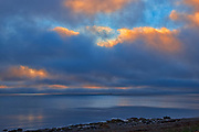 Clouds at sunrise over the Cabot Strait (Atlantic Ocean)<br />