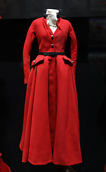 Christian Dior by Raf Simons (b. 1968), Coat, Haute Couture, Autumn/Winter 2012 into the 'Christian Dior: Designer of Dreams' at the Victoria and Albert Museum, London. Picture dated: Wednesday January 30, 2019. Photo credit should read: Isabel Infantes / EMPICS Entertainment.