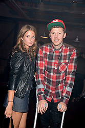 PROF.GREEN and MILLIE MACKINTOSH at Club DNKY in celebration of #DKNYARTWORKS held at The Firestation, Lambeth High Street, London SE1 on 12th June 2013.