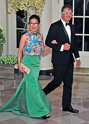 Actress Sandra Oh and Lev Rukhin arrive for the State Dinner in honor of Prime Minister Trudeau and Mrs. Sophie Grégoire Trudeau of Canada at the White House in Washington, DC on Thursday, March 10, 2016. EXPA Pictures © 2016, PhotoCredit: EXPA/ Photoshot/ Ron Sachs<br /> <br /> *****ATTENTION - for AUT, SLO, CRO, SRB, BIH, MAZ, SUI only*****