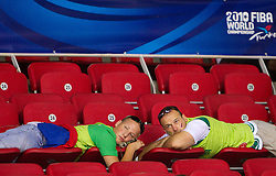 Fans of Slovenia during the Preliminary Round - Group B basketball match between National teams of Croatia and Iran at 2010 FIBA World Championships on August 29, 2010 at Abdi Ipekci Arena in Istanbul, Turkey.  (Photo by Vid Ponikvar / Sportida)