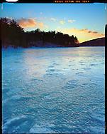 Boston, MA 03/18/2015<br /> Frozen footprints in Houghton's Pond.<br /> Alex Jones / www.alexjonesphoto.com