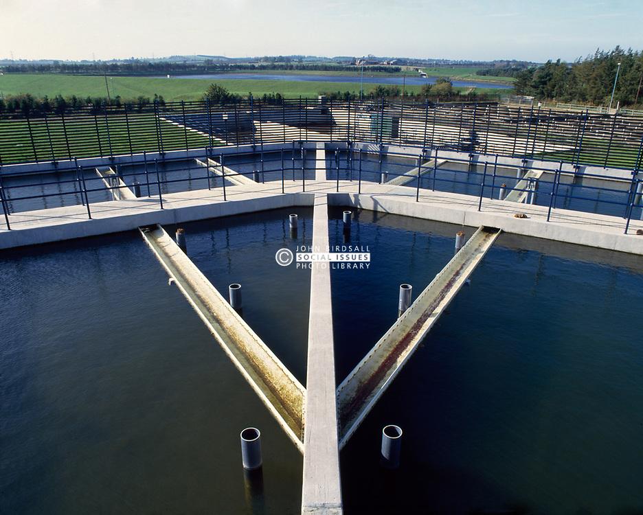 Water treatment tanks Whittledean water works Northumberland; UK