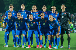 VILNIUS, June 11, 2017  Players of Slovakia pose for a group photo before the FIFA World Cup European Qualifying Group F match between Lithuania and Slovakia at LFF Stadium in Vilnius, Lithuania on June 10, 2017. Slovakia won 2-1. (Credit Image: © Alfredas Pliadis/Xinhua via ZUMA Wire)