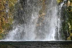 """THEMENBILD - Der Salza Wasserfall ist ein idyllisches Fleckchen im Gröbminger Land und bietet ein gewaltiges Naturerlebnis, fern von Hektik und Lärm. Ein idealer Ort für Mensch und Tier gemeinsam Zeit zu verbringen und sich vom Schauspiel des Wassers faszinieren zu lassen, wenn die gut 40 m hohe Gischt des Wasserfalles in einer """"Lagune"""" mündet, aufgenommen am 04.06.2020 in St. Martin am Grimming, Österreich // The Salza Waterfall is an idyllic spot in the Gröbminger Land and offers a tremendous nature experience, far away from the hustle and bustle and noise. An ideal place for humans and animals to spend time together and to be fascinated by the spectacle of the water when the 40 m high spray of the waterfall flows into a """"lagoon"""", pictured on 2020/06/04 in St. Martin am Grimming, Austria. EXPA Pictures © 2020, PhotoCredit: EXPA/ Erich Spiess"""