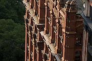 Red brick apartment building in Manhattan, New York City.