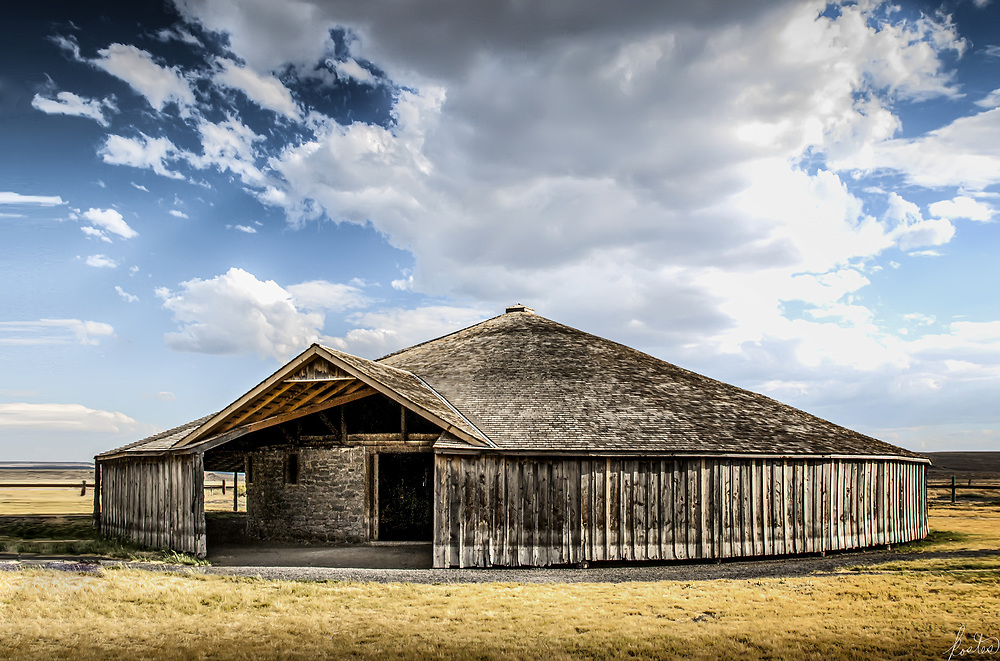 Peter French's Round Barn in Eastern Oregon high desert.