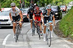 07.07.2011, AUT, 63. OESTERREICH RUNDFAHRT, 5. ETAPPE, ST. JOHANN-SCHLADMING, im Bild Etappensieger Ian Stannard, (GBR, Sky Procycling), Stefan Denifl, (AUT, Leopard Trek), Gatis Smukulis, (LAT, HTC Highroad), Yannick Eijssen, (BEL, BMC Racing Team) // during the 63rd Tour of Austria, Stage 5, 2011/07/07, EXPA Pictures © 2011, PhotoCredit: EXPA/ S. Zangrando