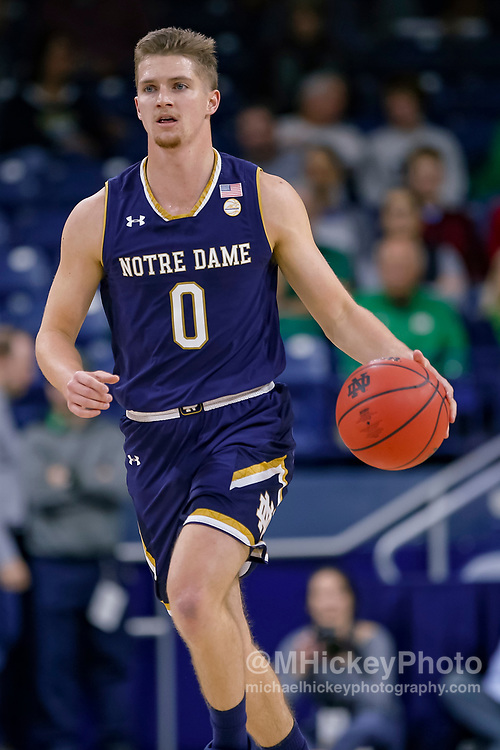 SOUTH BEND, IN - NOVEMBER 08: Rex Pflueger #0 of the Notre Dame Fighting Irish brings the ball up court during the game against the Chicago State Cougars at Purcell Pavilion on November 8, 2018 in South Bend, Indiana. (Photo by Michael Hickey/Getty Images) *** Local Caption *** Rex Pflueger