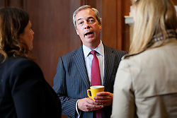© Licensed to London News Pictures. 17/05/2016. London, UK. UKIP Leader NIGEL FARAGE speaking at a Bruges Group event, focusing on the issues surrounding the European Arrest Warrant at County Hall in London on Tuesday, 17 May 2016. Photo credit: Tolga Akmen/LNP