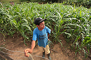 A young man takes a break on the fence of his corn field in Guaimaca, Honduras. Most of the villagers are farmers or work in the lumber industry.  Honduras is considered the third poorest country in the Western Hemisphere (Haiti, Nicaragua). With over 50% of the population living below the poverty line and 28% unemployed, Hondurans frequently turn to illegal immigration as a solution to their desperate situation. The Department of Homeland Security has noted an 95% increase in illegal immigrants coming from Honduras between 2000 and 2009, the largest increase of any country.