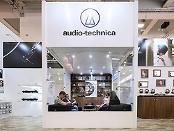 Listening room for hi-fi at Audio-Technica stand at 2016  IFA (Internationale Funkausstellung Berlin), Berlin, Germany