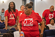 Mary Hamton at a Concerned Citizens of St. John The Baptist Parish Meetin in Feb. 2, 2020.