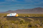 Jan Bos is onderweg in de VeloX2. De tweede racedag van het WHPSC In de buurt van Battle Mountain, Nevada, strijden van 10 tot en met 15 september 2012 verschillende teams om het wereldrecord fietsen tijdens de World Human Powered Speed Challenge. Het huidige record is 133 km/h.<br /> <br /> Jan Bos is on his way in the VeloX2  on the second day of the WHPSC. Near Battle Mountain, Nevada, several teams are trying to set a new world record cycling at the World Human Powered Speed Challenge from Sept. 10th till Sept. 15th. The current record is 133 km/h.