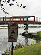 Sarasota, Florida, USA. Warning Sign, Nathan Benderson Park. Rowing Course for the 2017 FISA World Rowing Championships.  Thursday  27/10/2016 [Mandatory Credit; Peter SPURRIER/Intersport Images]