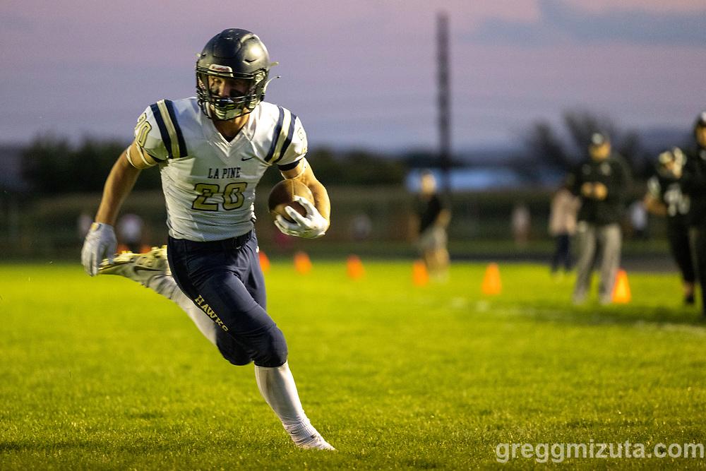 Dylan Hankey. Vale High School vs La Pine High School football game at Frank Hawley Stadium in Vale, Oregon on September 10, 2021.
