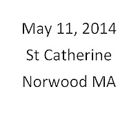 St Catherine Norwood MA First Communion May 11, 2014
