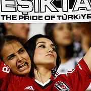 Besiktas's Supporters during their Turkish superleague soccer match Besiktas between Sivasspor at BJK Inonu Stadium in Istanbul Turkey on Monday, 01 October 2012. Photo by TURKPIX