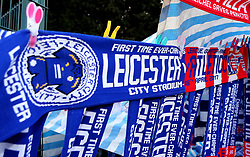 Half and half scarves for the UEFA Champions League Quarter-Final Second Leg between Leicester City and Atletico Madrid - Mandatory by-line: Robbie Stephenson/JMP - 18/04/2017 - FOOTBALL - King Power Stadium - Leicester, England - Leicester City v Atletico Madrid - UEFA Champions League Quarter-Final Second Leg