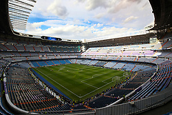 General view of the pitch at Santiago Bernabeu prior to the match