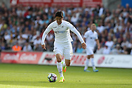 Ki Sung-Yueng of Swansea city in action. Premier league match, Swansea city v Chelsea at the Liberty Stadium in Swansea, South Wales on Sunday 11th Sept 2016.<br /> pic by  Andrew Orchard, Andrew Orchard sports photography.