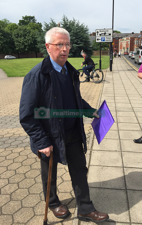 Former football coach John Marshall arriving at North Tyneside Magistrates' Court to face charges of assaulting boys in the 1980s.
