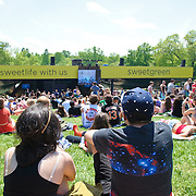 COLUMBIA, MD - May 11th, 2013 - Concert goers enjoy the sun from the top of the pavilion at the 2013 Sweetlife Food and Music Festival at Merriweather Post Pavilion in Columbia, MD. (Photo by Kyle Gustafson / For The Washington Post)