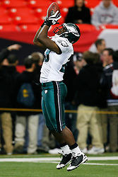 Philadelphia Eagles running back LeSean McCoy #29 warms up before the NFL game between the Philadelphia Eagles and the Atlanta Falcons on December 6th 2009. The Eagles won 34-7 at The Georgia Dome in Atlanta, Georgia. (Photo By Brian Garfinkel)