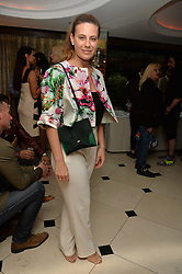 "FRANCESCA VERSACE at a party to celebrate the publication of ""Lady In Waiting: The Wristband Diaries"" By Lady Victoria Hervey held at The Goring Hotel, Beeston Place, London on 9th May 2016."