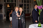 Graham Norton and Marina Mcerlane, First night for 'The Producers' at the Theatre Royal, Drury Lane and afterwards at the Waldorf Astoria. ONE TIME USE ONLY - DO NOT ARCHIVE  © Copyright Photograph by Dafydd Jones 66 Stockwell Park Rd. London SW9 0DA Tel 020 7733 0108 www.dafjones.com