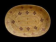 Yupik Eskimo grass basket, Fred and Randi Hirschmann's Collection, Aalska.