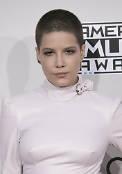 November 20, 2016 - Los Angeles, California, U.S - Halsey on the Red Carpet of the 2016 American Music  Awards held on Sunday, November 20, 2016 at the Microsoft  Theatre in Los Angeles, California. (Credit Image: © Prensa Internacional via ZUMA Wire)