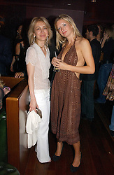 Left to right, SAHAR HASHEMI and LAINEY SHERIDAN-YOUNG at a party hosted by Allegra Hicks and Melissa Del Bono to celebrate the opening of Volstead, Swallow Street, London W1 on 4th May 2006.<br /><br />NON EXCLUSIVE - WORLD RIGHTS